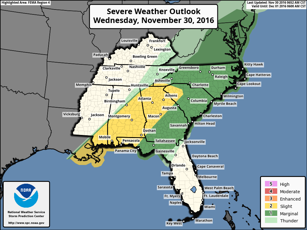 SPC convective outlook for today